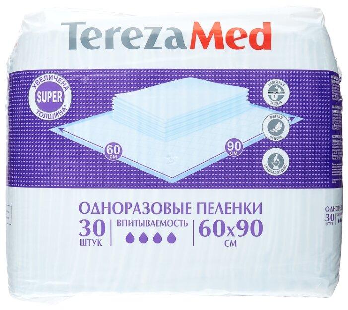 Пеленки Tereza Med Super 90177, 60 х 90 см (30 шт.)