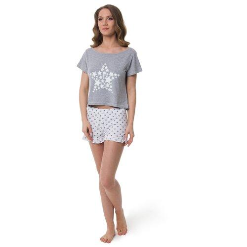 Пижама Evelena размер XS серый платье oodji ultra цвет красный белый 14001071 13 46148 4512s размер xs 42 170
