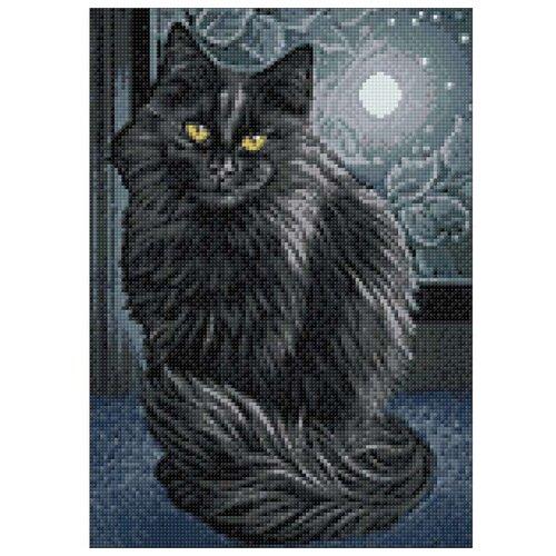 Фото - Гранни Набор алмазной вышивки Черная кошка (Ag 205) 27х38 см гранни набор алмазной вышивки радужный слон ag 482 27х38 см