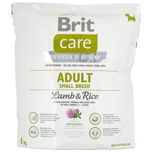Сухой корм для собак Brit Care ягненок с рисом 1 кг (для мелких пород) корм для собак brit care medium breed для средних пород ягненок с рисом сух 3кг