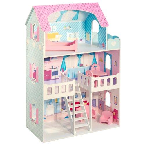 paremo кукольный домик эмилия романья с мебелью pd318 04 розовый голубой PAREMO кукольный домик Валери Шарм PD318-22, разноцветный