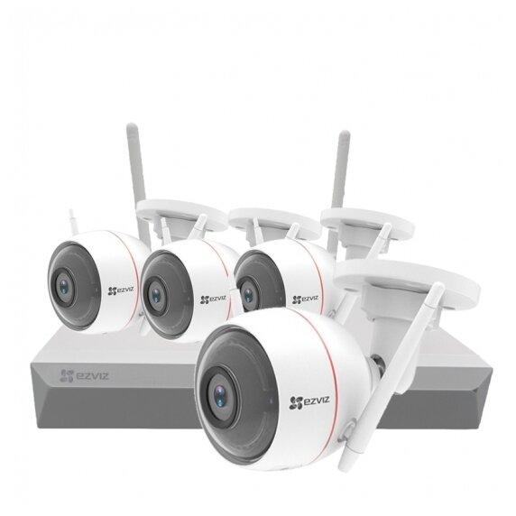 Комплект видеонаблюдения EZVIZ ezWireLessKit 4CH 4 камеры