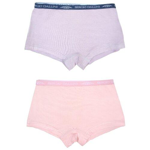 Купить Трусики Sergio Dallini 2 шт., размер 128, розовый/сиреневый, Белье и купальники