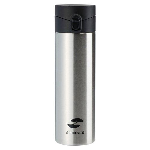 Термокружка Stinger, 0,5 л, сталь/пластик, серебристый, 6,7 x 6,7 x 22,4 см