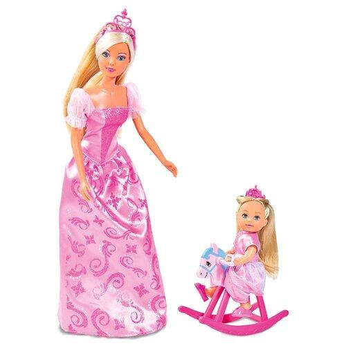 Купить Набор кукол Steffi Love Штеффи и Еви - Принцессы, 29 и 12 см, 5733223029, Simba, Куклы и пупсы