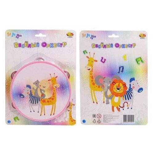 Купить ABtoys бубен D-00065 розовый, Детские музыкальные инструменты