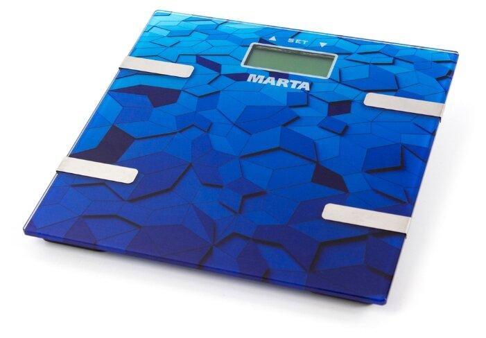 Весы электронные MARTA MT-1675 синий сапфир