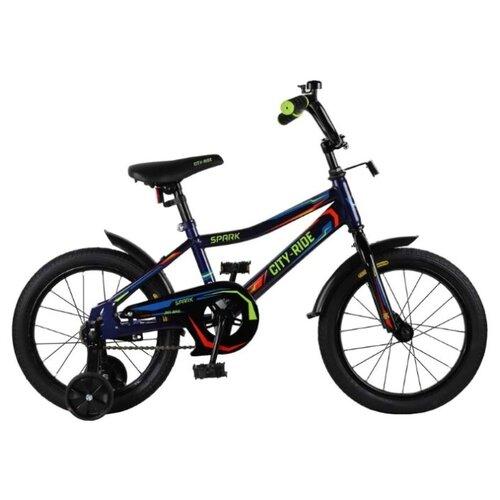 цена на Детский велосипед CITY-RIDE Spark 16 (CR-B2-0216) синий (требует финальной сборки)