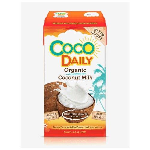 Молоко кокосовое Coco Daily Органическое 61% (жирность 17-19%) 1 л malee напиток кокосовое молоко 0 33 л