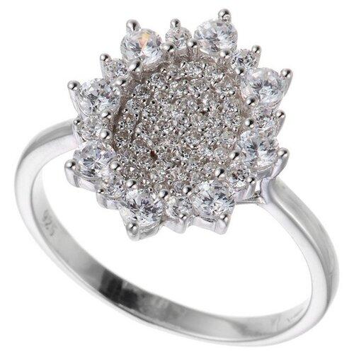 ELEMENT47 Кольцо из серебра 925 пробы с кубическим цирконием SR00643CZZSW-1_KO_001_WG, размер 17.75