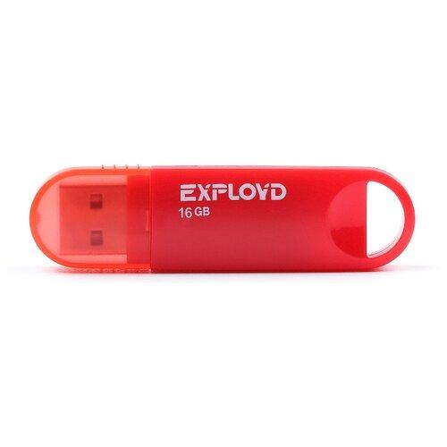Фото - Флешка EXPLOYD 570 16GB red флешка exployd 560 16gb red
