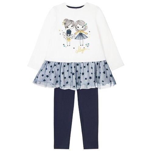Купить Комплект одежды playToday размер 122, синий/белый/золотистый, Комплекты и форма