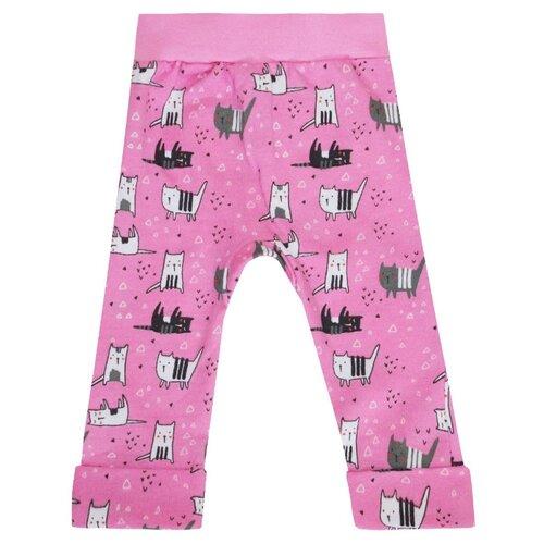Купить Брюки KotMarKot Забавные кошки 75809 размер 74, розовый, Брюки и шорты