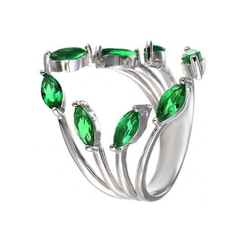 JV Кольцо с фианитами из серебра SY-355491-R-001-WG, размер 16.5 jv кольцо с фианитами из серебра sy 355491 r 003 wg размер 18 5