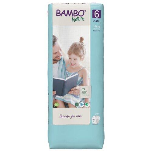 Купить BAMBO подгузники Nature 6 (16+ кг) 40 шт., Подгузники