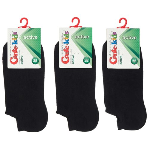 Купить Носки Conte-kids комплект 3 пары размер 22, черный