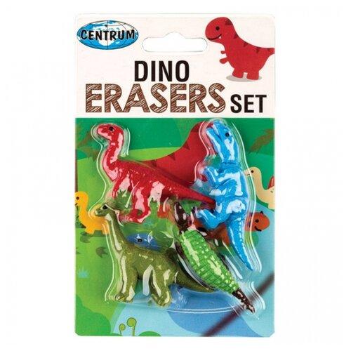 Купить CENTRUM Набор ластиков Dino (80764), 4 шт, Ластики