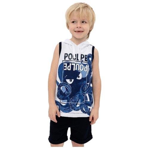 Майка Gulliver размер 98, синий футболка gulliver размер 98 синий