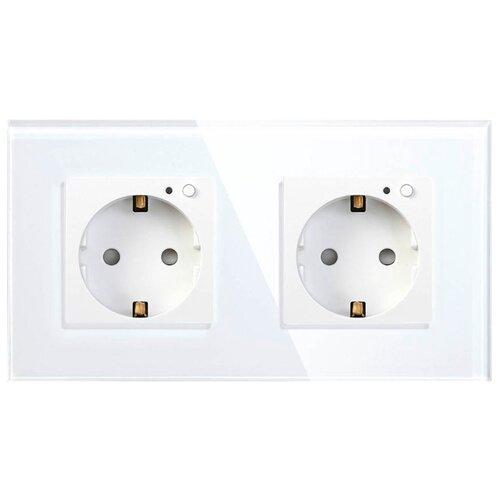 Фото - Розетка HIPER Outlet W02 Duo,16А, с защитной шторкой, с заземлением, белый, дистанционное управление hiper vx800 белый
