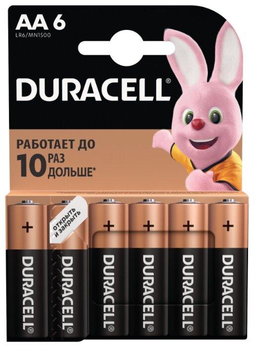 Батарейка AA Duracell LR6 BASIC MN1500 (упаковка 2шт) 115965 (Б0026814) (Партия 2.0 шт)