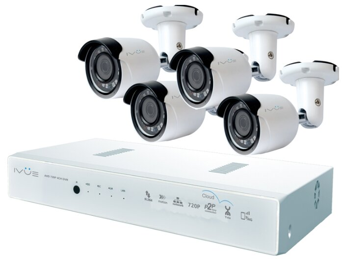 Комплект видеонаблюдения IVUE D5008 РРС B4