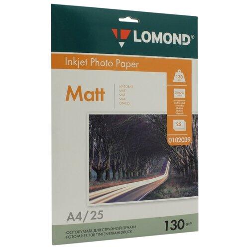 Бумага Lomond A4 Photo Paper 0102039 130 г/м² 25 лист. белый 1 шт.