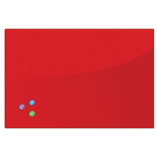 Доска стеклянная магнитно-маркерная BRAUBERG 236746 (40х60 см) красный доска стеклянная магнитно маркерная brauberg 236745 40х60 см черный