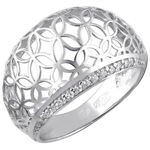 Эстет Кольцо с 28 фианитами из серебра 01К1511431, размер 19 ЭСТЕТ