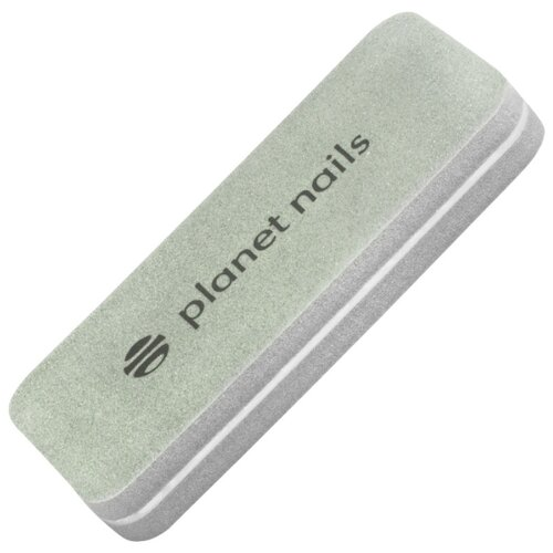 Planet nails шлифовка для ногтей Sponge прямоугольная 180/280 грит серый