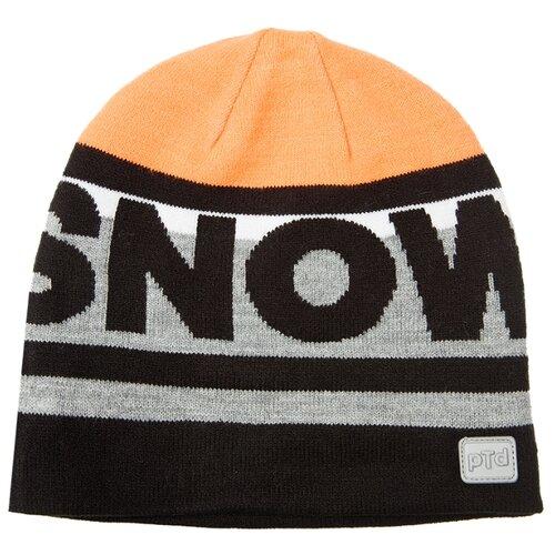 Купить Шапка playToday размер 54, черный/серый/оранжевый, Головные уборы