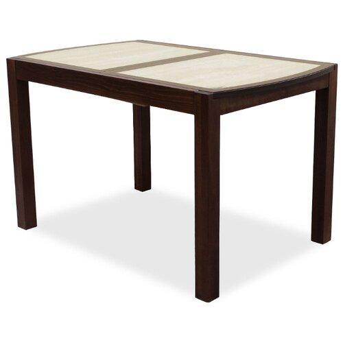 Стол кухонный Стол И Стул Рига, раскладной, ДхШ: 120 х 76 см, длина в разложенном виде: 165 см, орех темный/дуб сонома стол mariott d80 х 74 см