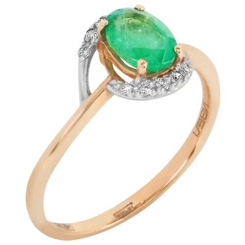 Yvel Кольцо с изумрудом и бриллиантами из красного золота 00453187, размер 18