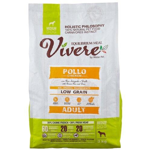 Сухой корм для собак Vivere курица 3 кг (для средних пород)