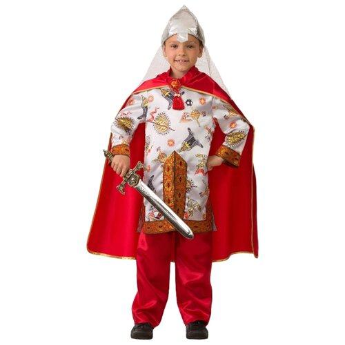 Купить Костюм Батик Богатырь сказочный (5207), белый/красный, размер 146, Карнавальные костюмы