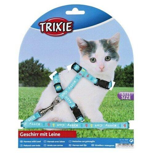 Шлейка для котят TRIXIE, нейлон с рисунком