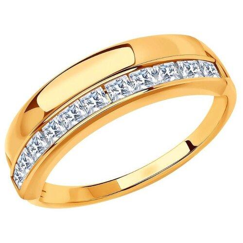 SOKOLOV Кольцо с 11 фианитами из красного золота 018567, размер 19