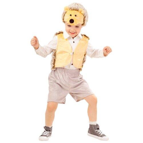 Купить Костюм пуговка Ежик Степка (4003 к-18), серый/желтый, размер 110, Карнавальные костюмы
