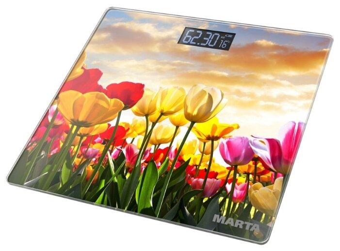 Весы электронные MARTA MT-1678 Тюльпаны