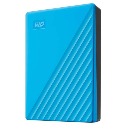 Фото - Внешний HDD Western Digital My Passport 4 ТБ голубой western digital wdblhr0020bbl eeue my passport 2 5 синий
