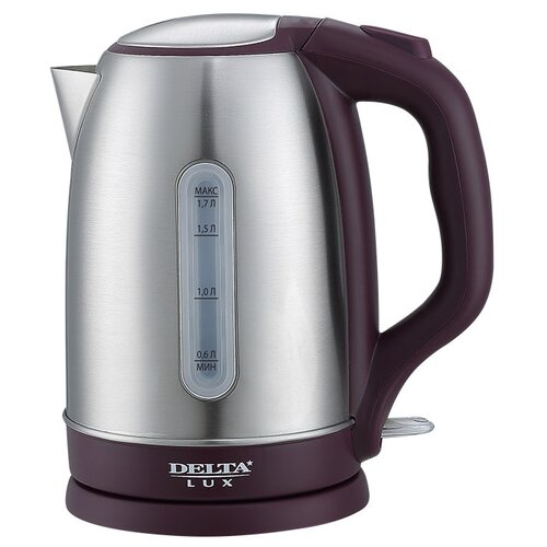 Чайник DELTA LUX DL-1335, фиолетовый фен delta lux dl 0940 черный фиолетовый