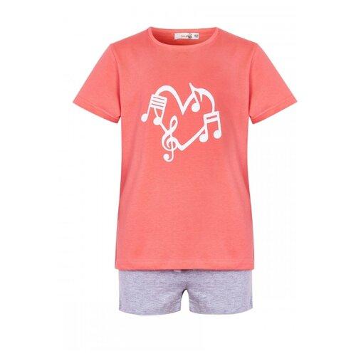 Купить Комплект одежды Roxy Foxy размер 158, коралловый/серый меланж, Комплекты и форма