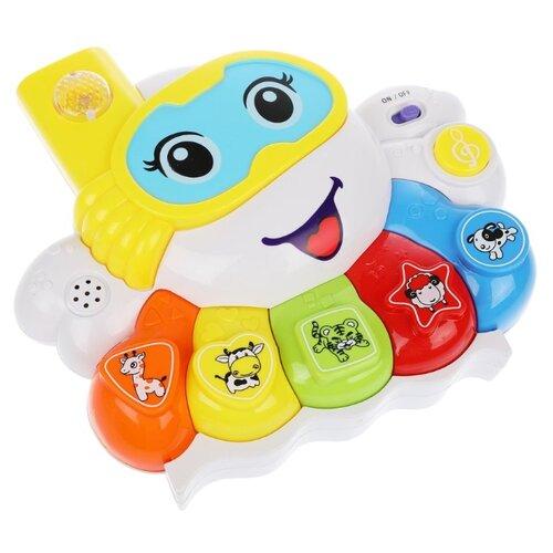 Развивающая игрушка S+S Toys Музыкальный Осьминожка белый игрушка s s toys bambini музыкальное пианино котик сс76753