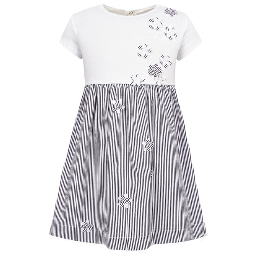 Платье Il Gufo размер 68, белый/синий