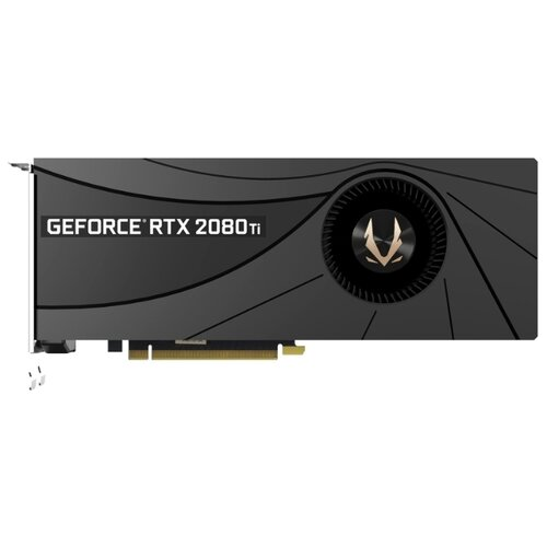 Купить Видеокарта ZOTAC GeForce RTX 2080 Ti 1545MHz PCI-E 3.0 11264MB 14000MHz 352 bit HDMI 3xDisplayPort HDCP Blower Retail