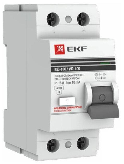 УЗО EKF 10мА тип AC ВД-100 2 полюса