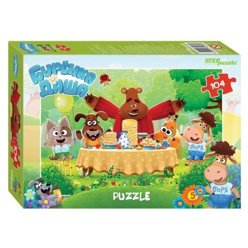 Пазл Step puzzle Буренка Даша (82188), 104 дет. пазл step puzzle maxi даша путешественница 90050 24 дет