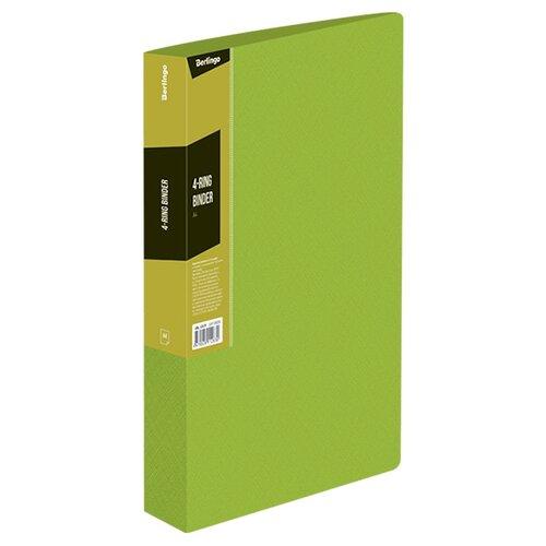 Berlingo Папка на 4-х кольцах Color zone А4, пластик салатовый, Файлы и папки  - купить со скидкой