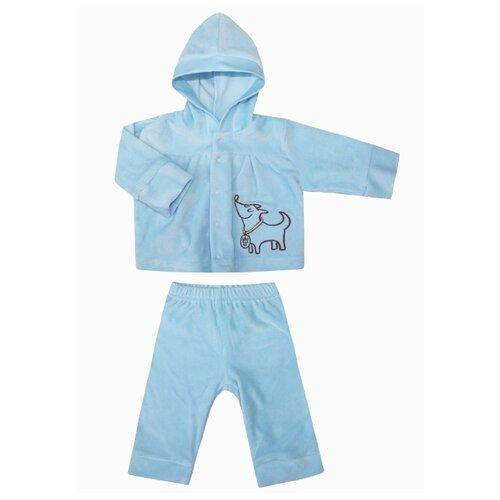 Фото - Комплект одежды KotMarKot размер 62, голубой комплект одежды kotmarkot размер 62 68 белый голубой