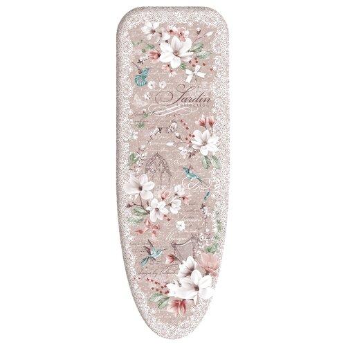 Чехол для гладильной доски Valiant Jardin collection M 120х45 см розовый