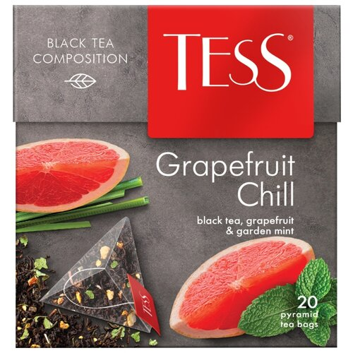 Чай черный TESS Grapefruit Chill в пирамидках, 20 шт. svay black thyme черный чай в пирамидках 20 шт